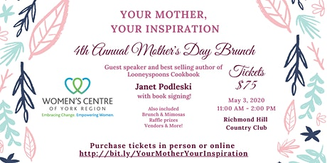Your Mother, Your Inspiration 4th Annual Mother's Day Brunch tickets