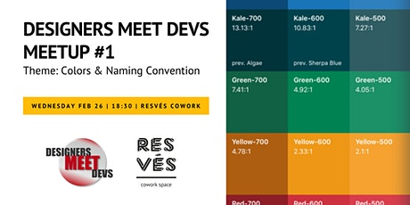 Designers Meet Devs - Meetup #1 tickets