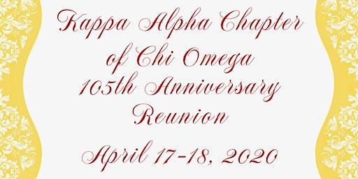 Kappa Alpha Chapter of Chi Omega 105th Anniversary Reunion