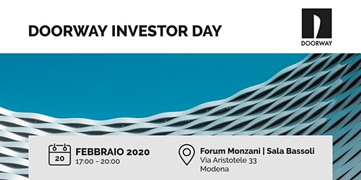 Doorway Investor Day Modena