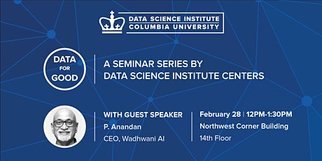 Data for Good: P. Anandan, CEO, Wadhwani AI tickets