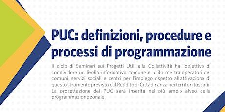 I Progetti Utili alla Collettività (PUC): definizioni, procedure e processi di programmazione biglietti