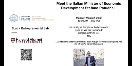 A Conversation with  Stefano Patuanelli, Minister of Economic Development tickets