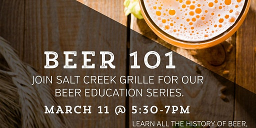 Salt Creek Grille Beer Education Series