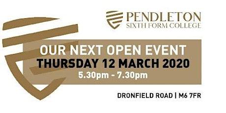 Pendleton Sixth Form College Open Evening tickets