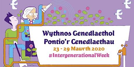 Rhwydwaith Pontio'r Cenedlaethau / Bridging the Generations Network tickets
