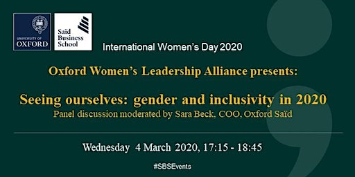 International Women's Day 2020 - Panel Event - Oxford Women's Leadership Alliance