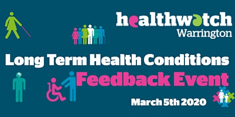 Long Term Health Conditions Feedback Event tickets