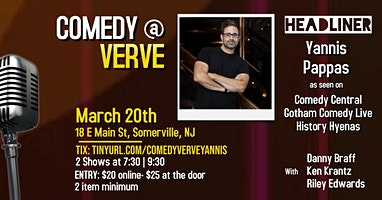 Comedy at Verve with Yannis Pappas