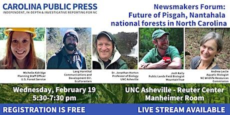 Newsmakers Forum: Pisgah-Nantahala National Forest Management Plan tickets