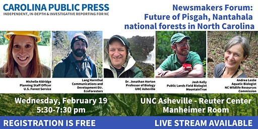 Newsmakers Forum: Pisgah-Nantahala National Forest Management Plan