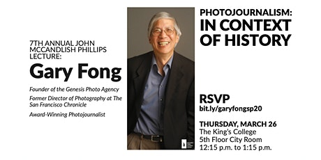 7th Annual John McCandlish Phillips Lecture with Gary Fong tickets