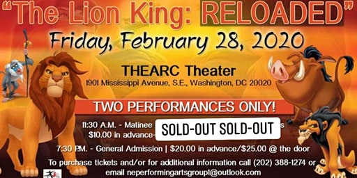 "Northeast Performing Arts Group presents ""The Lion King:RELOADED"" Matinee"