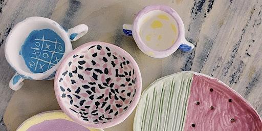 Stage d'art plastique et poterie pendant vacances de février.