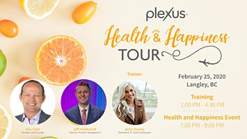 Health and Happiness Tour Training - Langley/Surrey, BC