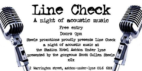 WSO Line Check Acoustic Open Mic Night tickets