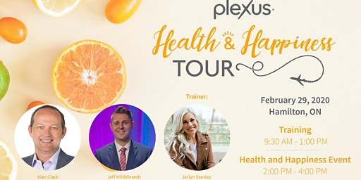 Health and Happiness Tour Training - Hamilton, ON