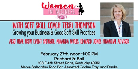 WOMEN IN BUSINESS OF THE PARIS-BOURBON COUNTY CHAMBER OF COMMERCE tickets