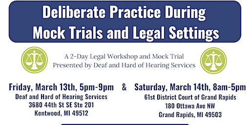 Deliberate Practice During Mock Trials and Legal Settings