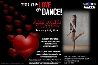 FOR THE LOVE OF DANCE FREE DANCE CLASSES* - Ages 2-6 tickets