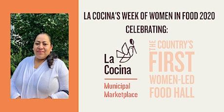3/2 Week of Women in Food Dinner Series feat. El Buen Comer + Marketplace business Estrellita's Snacks, guest Chef Casey Rebecca Nunes of Media Noche SF | by La Cocina  tickets