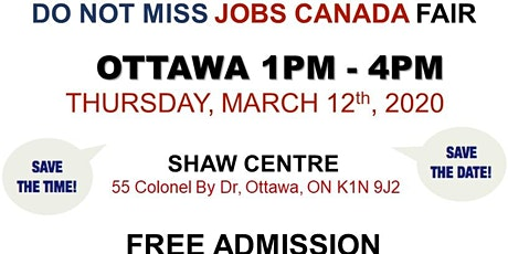 OTTAWA JOB FAIR - March 12th, 2020 tickets