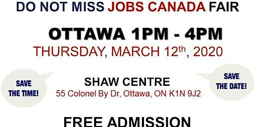 OTTAWA JOB FAIR - March 12th, 2020