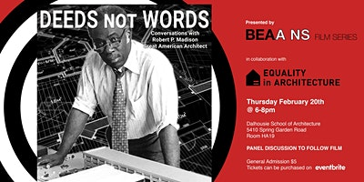 BEAA Film Series and Dal Equality in Architecture Present: Deeds Not Words