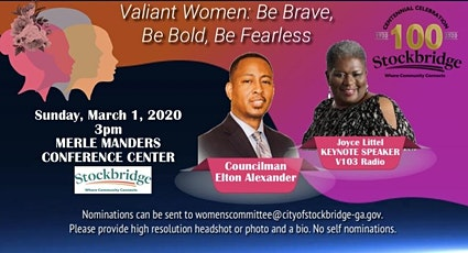 City Of Stockbridge Women's History Month Honors: VALIANT WOMEN, Be Brave, Be Bold, Be Fearless tickets