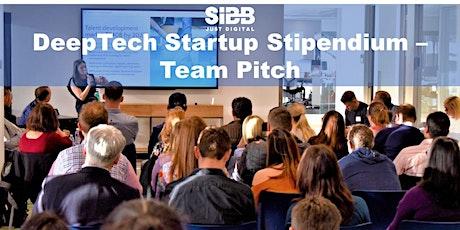 DeepTech Startup Stipendium - Team Pitch Tickets