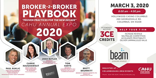 2020 CAHU Annual Expo - Broker-2-Broker PLAYBOOK (Proven Strategies for the New Decade)