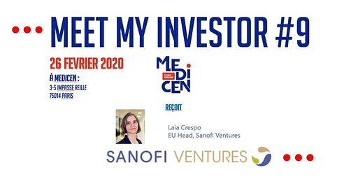 Meet My Investor #9 avec Sanofi Ventures