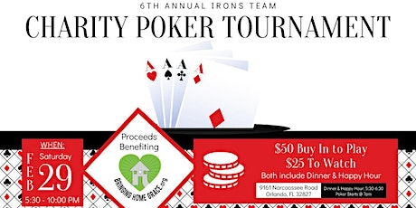 6th Annual Charity Poker Tournament tickets