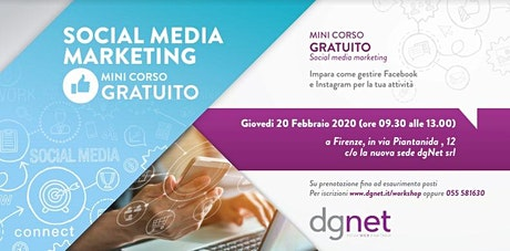 Corso gratuito dgNet Social Media Marketing biglietti