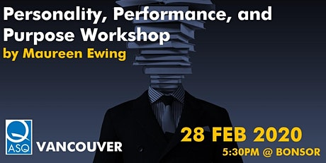 Personality, Performance, and Purpose Workshop tickets
