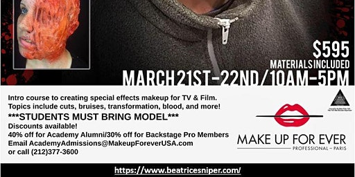 Make Up For Ever Academy 2-Day Intensive: Special FX Workshop