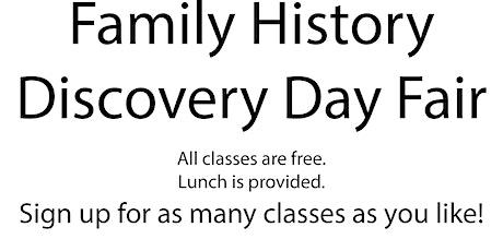 Family History Fair tickets