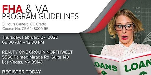 FHA & VA Program Guidelines