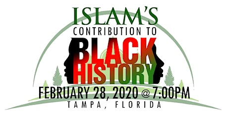 Islam's Contribution to Black History Awards Banquet tickets