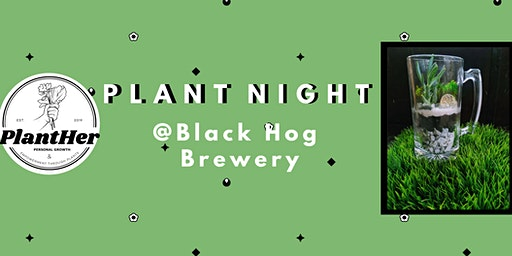 Create Your Own Beer Glass Terrarium-PlantHer Plant Night @ Black Hog