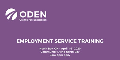 ODEN 3-Day Employment Service Training - North Bay