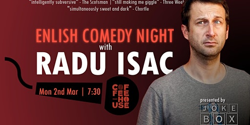 English Stand Up Comedy Night With Radu Isac