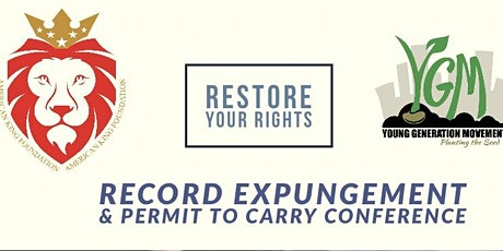 RESTORE YOUR RIGHTS tickets
