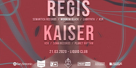 VOID: REGIS // KAISER / K.S.R LABEL NIGHT tickets