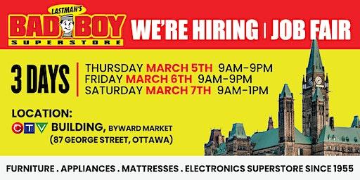 Lastman's Bad Boy Ottawa Job Fair March 05-07