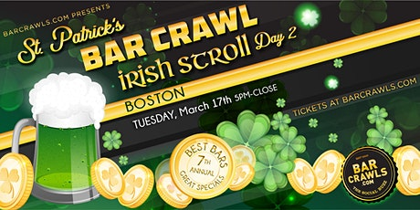 Barcrawls.com Presents Boston St. Patrick's Day Bar Crawl Day 2 tickets