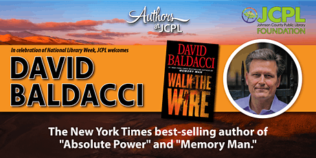 CANCELED: Authors at JCPL Presents: David Baldacci (plus book giveaway) tickets