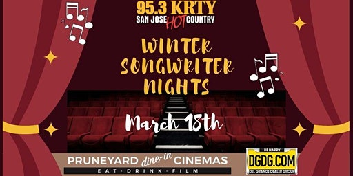 95.3 KRTY and DGDG.com Present 2020 WINTER SONGWRITERS SERIES WED MARCH 18