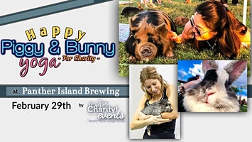 **Rescheduled** Happy Piggy & Bunny Yoga-For Charity at Panther Island Brewing