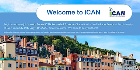 2020 iCAN Research & Advocacy Summit billets